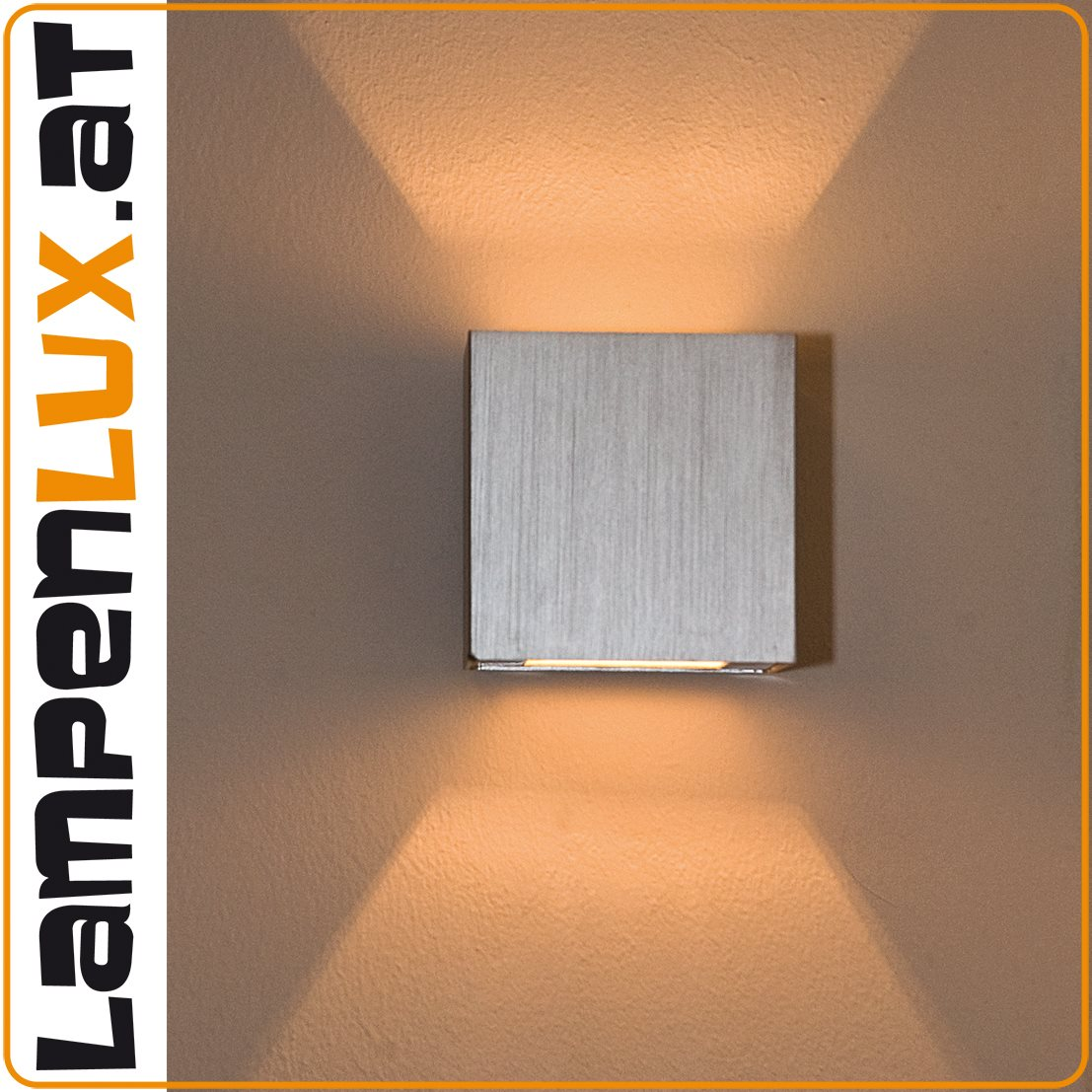 Lampenlux LED Up/Down Wandleuchte Wandlampe Amon breit-breit Stimmungslicht silber G9 4W