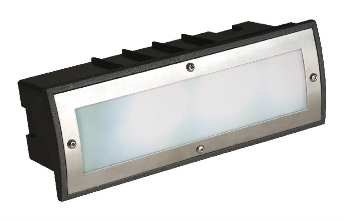 Lampenlux LED Einbaustrahler Ebo Aussenleuchte Gartenlampe Tagweiß 230V Alu Glas