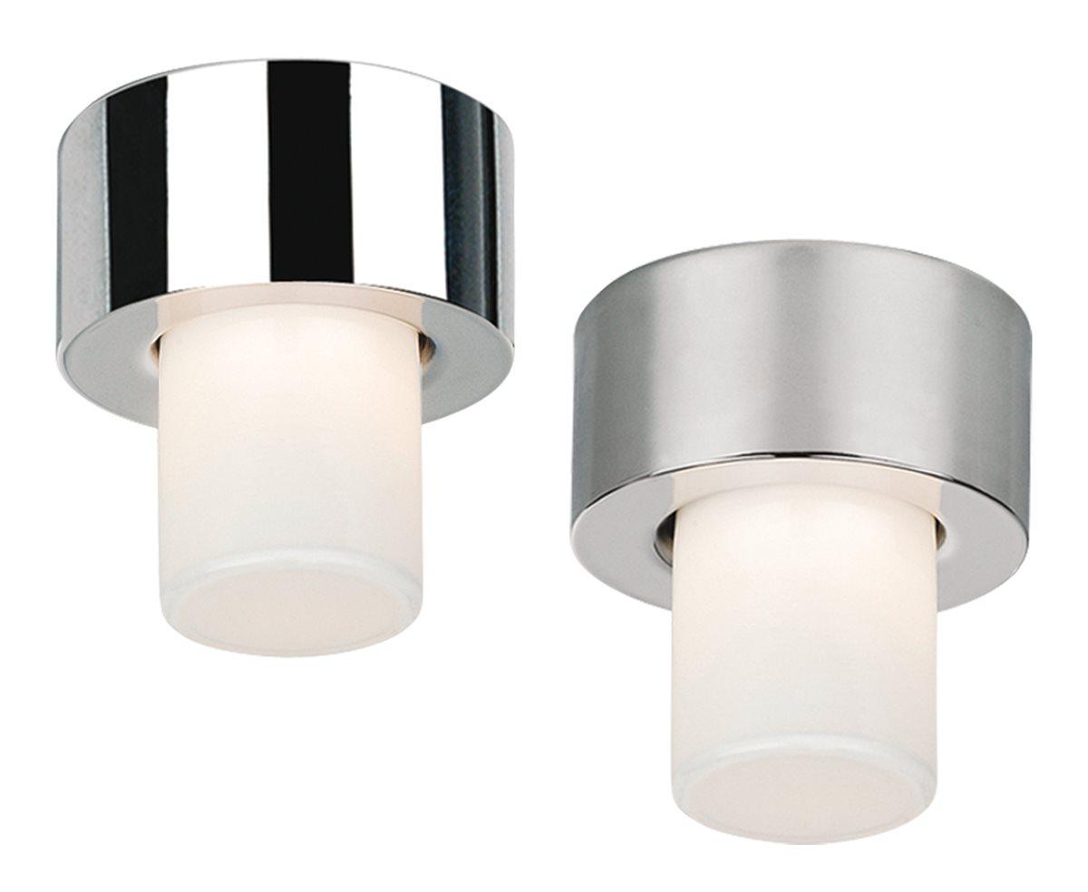 Lampenlux Deckenlampe Deckenleuchte Dandy Glasschirm chrom/nickel satiniert G9 Ø:10cm