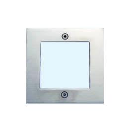 Lampenlux LED Einbaustrahler Santi Außenleuchte Spot Down Tagweiß Silber Aluminium IP54