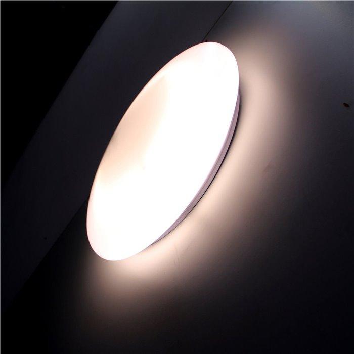 Lampenlux LED Deckenlampe Deckenleuchte Alvaro-Led Glasschirm Opal Abdeckung Ø: 30cm