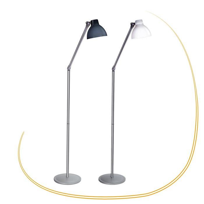 Lampenlux LED Stehleuchte Zarko Schreibtischlampe Bürolampe schwenkbar drehbahr Schalter