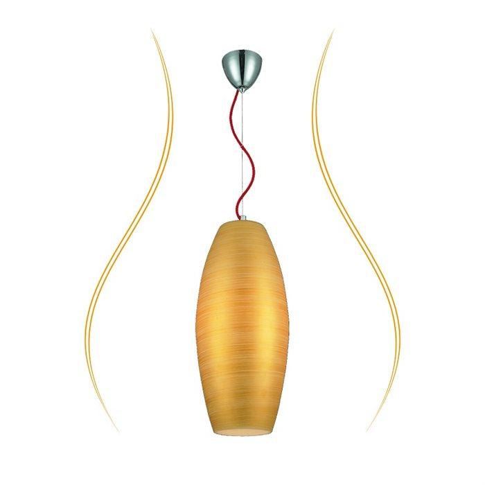 Lampenlux LED Pendellampe Pendelleuchte Biko Glasschirm Gold Fassung E27