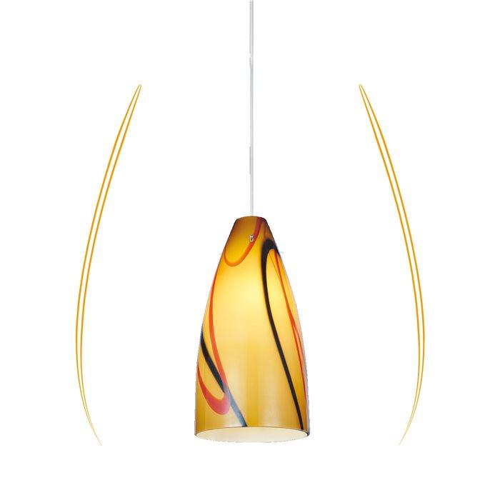 Lampenlux LED Pendellampe Pendelleuchte Basil Stimmungslicht Glasschirm Amber Fassung E27