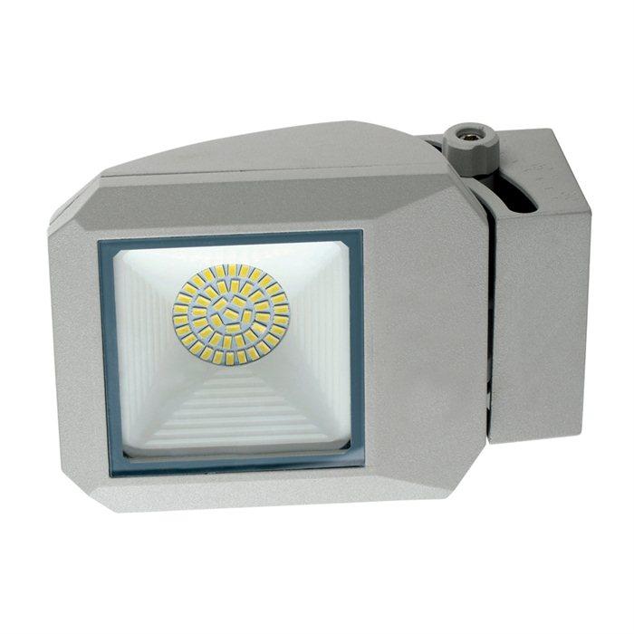 Lampenlux LED Aussenleuchte Apoll Grau 17W Gartenlampe Wegeleuchte IP65 Spot Strahler Aufbauspot