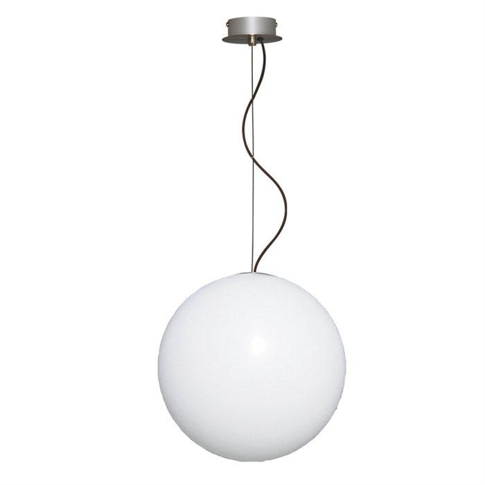 Lampenlux Pendel Hänge Decken Leuchte Lampe Zippo Aussen Kugel Veranda Garten Weißmatt Ø45