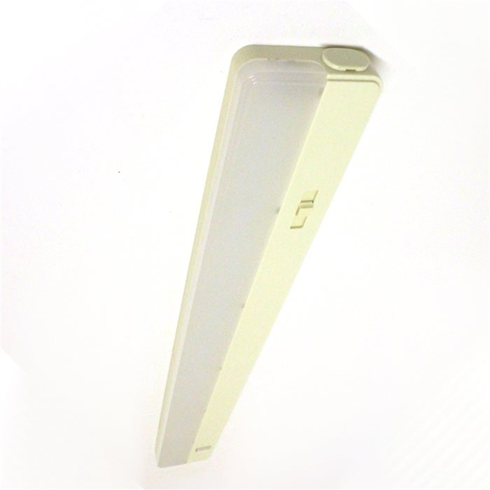Lampenlux LED Unterbauleuchte Manto Küchenleuchte Aufbaulampe Beige Schalter Stromkabel