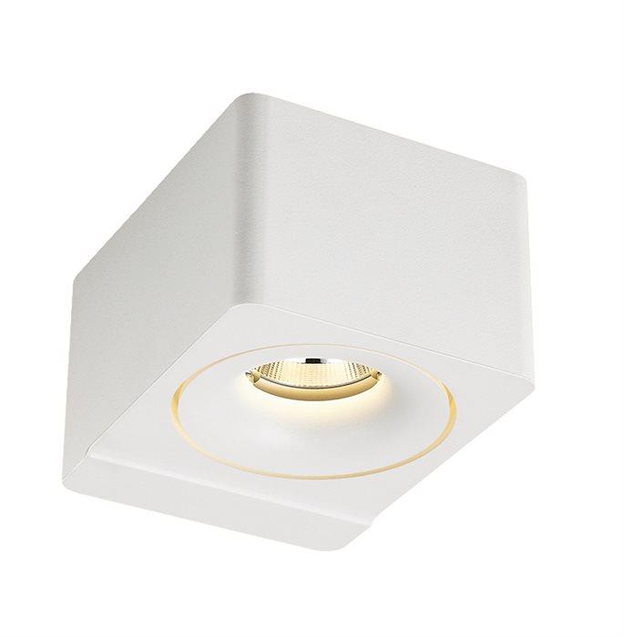 Lampenlux LED Wandlampe Tschako Spiegelleuchte Weiß Eckig Deko Alu Bilderlampe Badleuchte Wandleuchte
