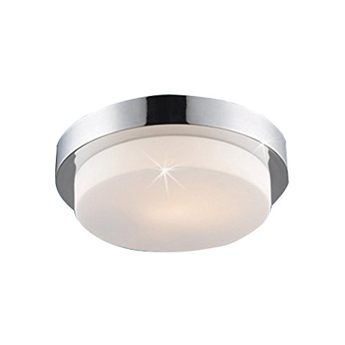 Lampenlux Deckenleuchte Dario IP44 230V E27 Ø29cm Deckenlampe Badlampe Rund Glas Chrom