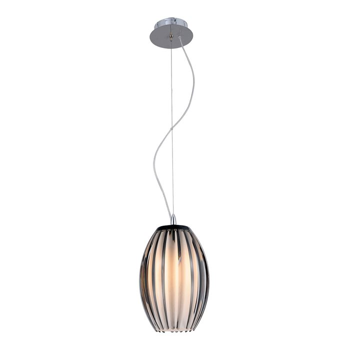 Lampenlux LED Pendellampe Pendelleuchte Bono Glasschirm Opal und Braun Fassung E27 Ø18cm