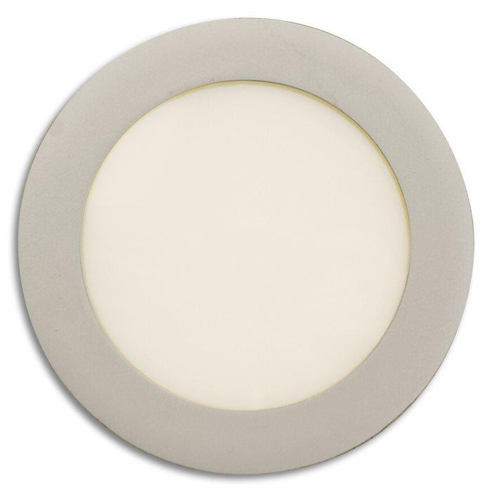 Lampenlux LED-Panelleuchte Panel Ripley rund Leuchtpanel Ø18.0cm Deckenleuchte warmweiß