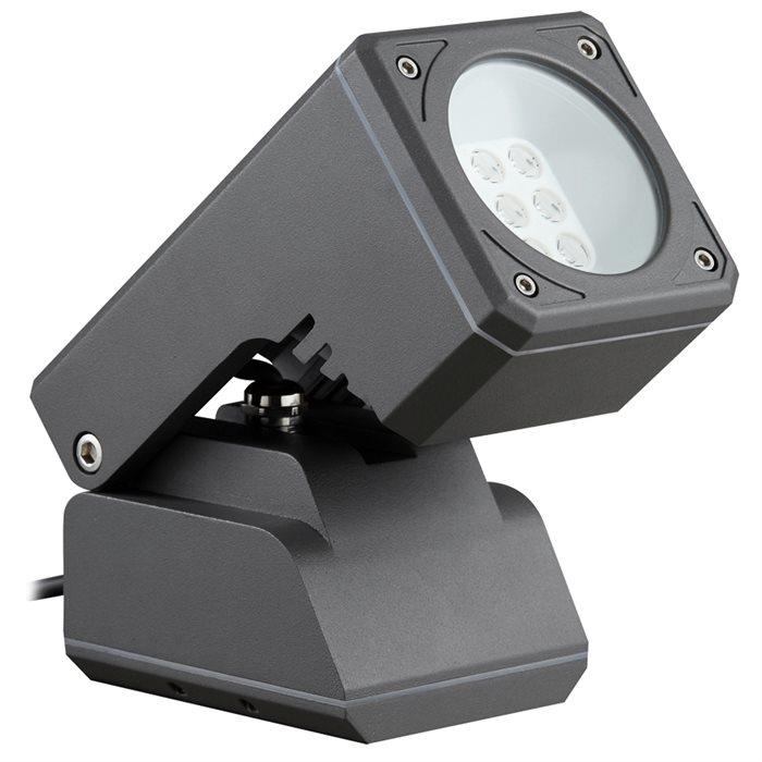 Lampenlux LED Aussenleuchte Iko Aufbaustrahler Schwenkbar Aussenstrahler Schwarz IP65 Alu
