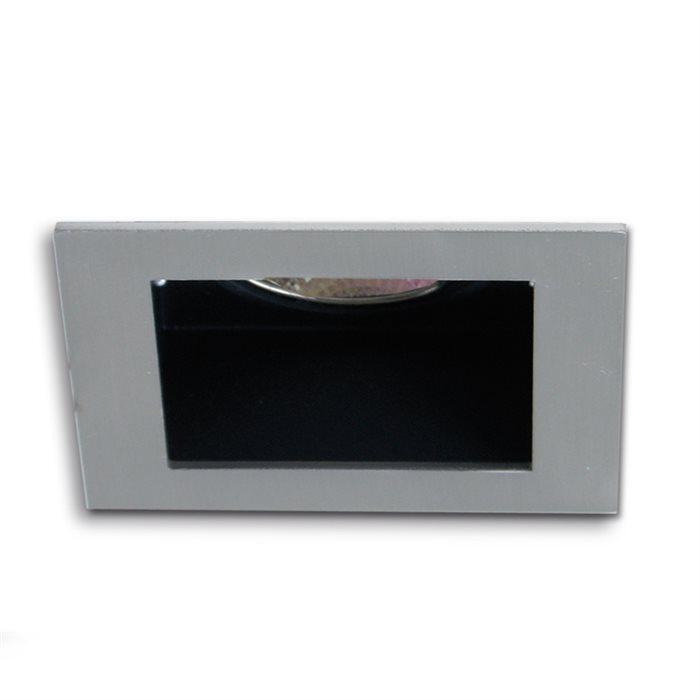 Lampenlux Einbaustrahler Sorah eckig Spot 9.0x9.0cm rostfrei Aluminium Nickel gebürstet 230V