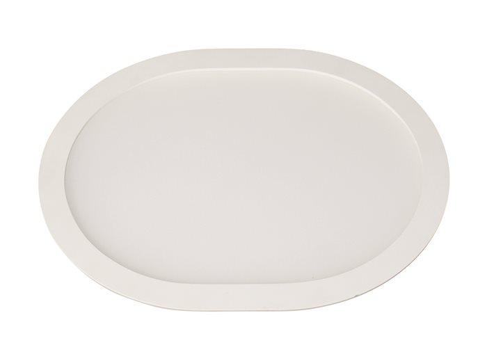 Lampenlux Ultraslim LED Panel Tippo Einbaustrahler Einbauhöhe: 2cm 18-26cm Warmweiß Tagweiß Einbauleuchte Spot Weiß Oval