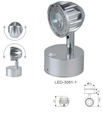 Lampenlux LED Bettlampe Wickie Aufputzlampe drehbar schwenkbar Schalter Aluminium Strahler