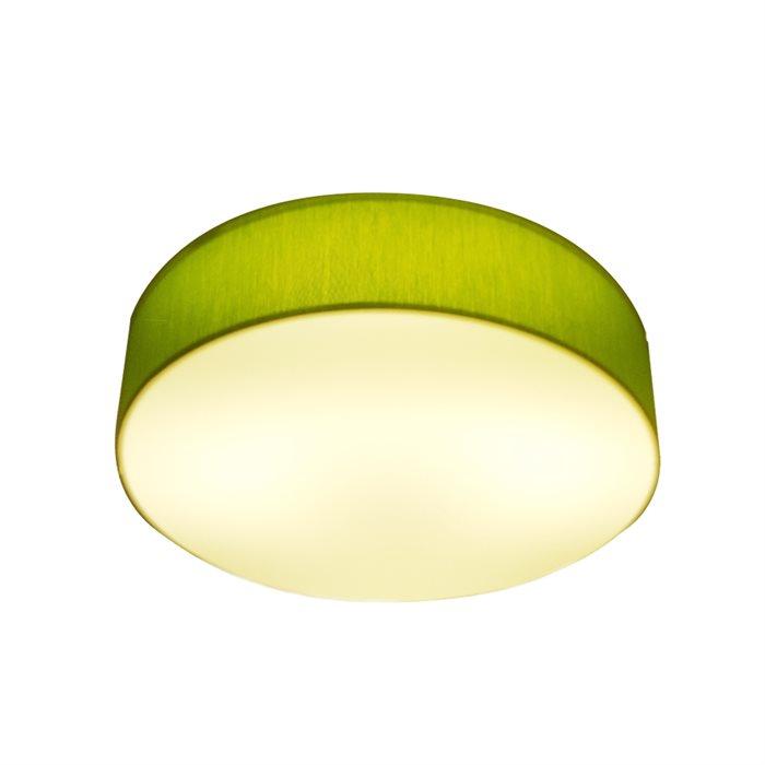 Lampenlux LED Deckenlampe Deckenleuchte Greeny grün 24W 3000K Ø: 30/40/50 cm Warmweiß/Tagweiß Stoffschirm