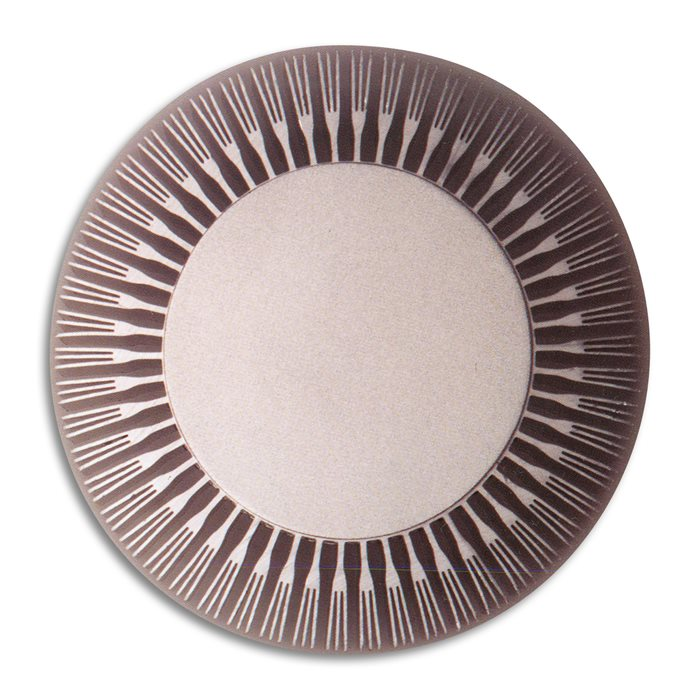 Lampenlux LED Außenwandleuchte Agor Fächer Aluminium gebürstet Wandlampe Ø9cm IP44 Effektlampe Außenlampe Außenleuchte