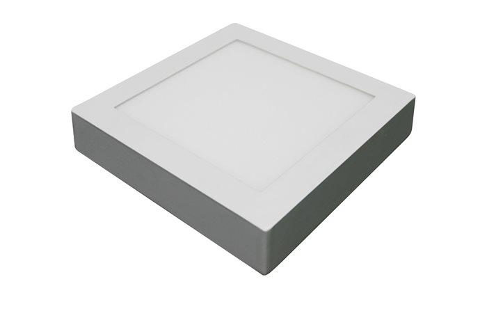 Lampenlux Ultraslim LED Panel Ramina Höhe:3,5cm Ø12-38cm Deckenlampe Deckenleuchte Weiß Eckig Warmweiß