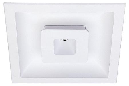 Lampenlux LED-Einbaustrahler Spot Sondor eckig weiß 12.0x12.0 cm Aluminium inkl TrafoEinbauleuchte Einbaulampe Einbauspot Spot Strahler Punktstrahler Aluminium Downlight Down Deckeneinbaustrahler Deckeneinbauleuchte