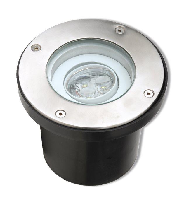 Lampenlux LED Bodeneinbaustrahler Sotam 230V Außenleuchte Schwenkbar WW Ø14.5cm