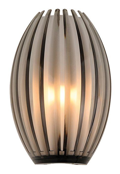 Lampenlux LED Wandlampe Bono Deko Glas Opal Braun Wandleuchte Up Down Effektlampe 230V