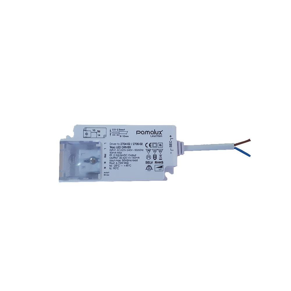 Pamalux LED Driver max. 30V - 42V DC 160mA Output Phasenan-/abschnittsdimmbar