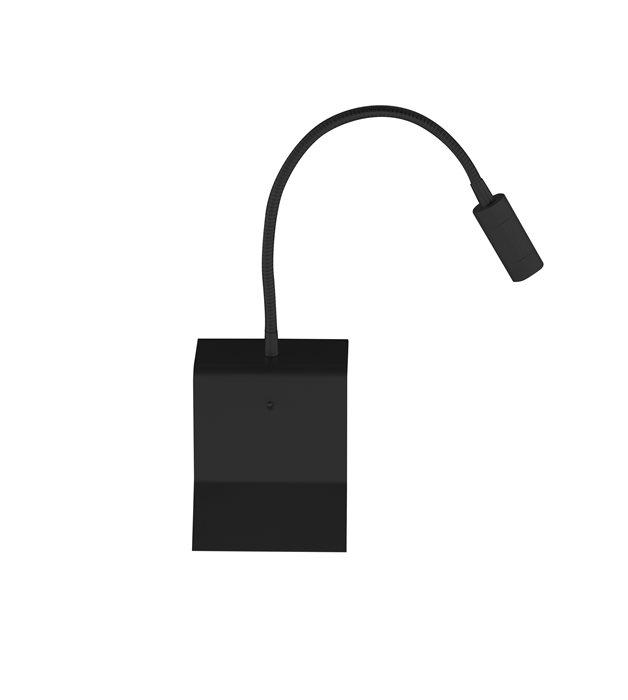 lampenlux led wandlampe wandleuchte uno leselampe leseleuchte downlight schalter schwanenhals. Black Bedroom Furniture Sets. Home Design Ideas