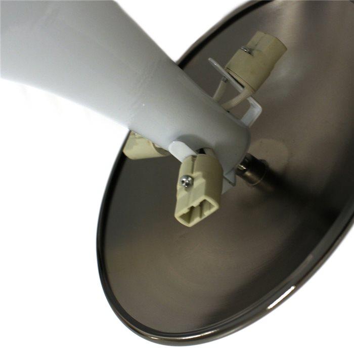 lampenlux deckenleuchte deckenlampe gino weiss schwarz t5 22w 30cm leuchtstoffr hre 8812 16. Black Bedroom Furniture Sets. Home Design Ideas