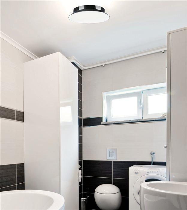 lampenlux energiespar deckenlampe zeno opalglas chrom gl nzend rund 30cm inkl evg. Black Bedroom Furniture Sets. Home Design Ideas